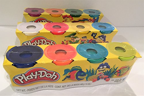 (Play-Doh HASB5517BAMZ 4-Pack of Colors Gift Set Bundle (12 Cans-48)