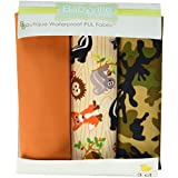 Dritz Babyville 21 by 24-Inch PUL Waterproof Diaper Fabric Cuts, Forest Friends/Camouflage, 3-Pack