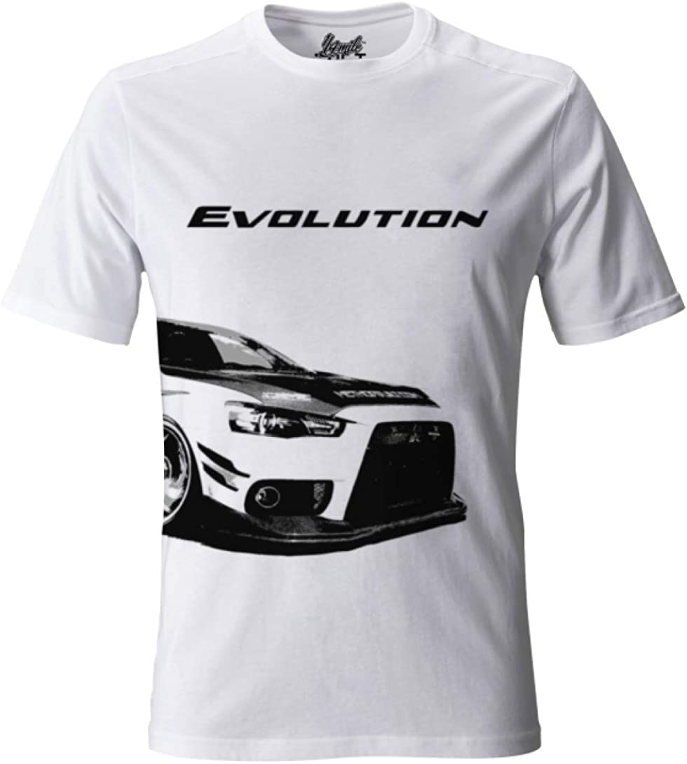 MITSUBISHI EVO X BUCKLE UP T-SHIRT SHIRT GIFT CAR BLACK WHITE