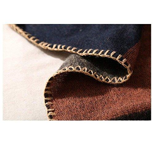 Plus Prodotto Giacca Donna Capa Cardigan A Autunno Chic Eleganti Outerwear Casual Maglia Poncho Invernali Moda Fiore Ragazza Stampa Schwarz1 tOtq4fwH7