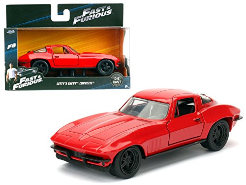 StarSun Depot Letty's Chevrolet Corvette Fast & Furious F8 The Fate of the Furious Movie 1/32 Model Car by Jada