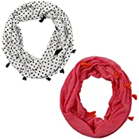 7-14 Years Girls Lightweight Infinity Scarf - 1 Or 2 Or 3 Packs, Good Quality, Good price