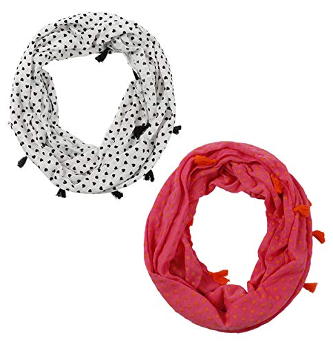 Boy Girl Infinity Loop Scarf - Soft Jersey Thin Lightweight Scarfs For Children Girl Boy 7-14 Year