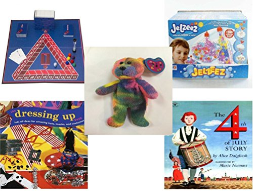 Children's Fun & Educational Gift Bundle - Ages 6-12 [5 Piece] - Includes: Game - Toy - Plush - Hardcover Book - Paperback Book - No. dbund-6-12-25816