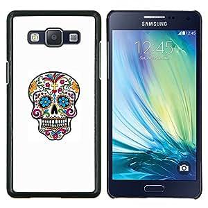 Caucho caso de Shell duro de la cubierta de accesorios de protección BY RAYDREAMMM - Samsung Galaxy A5 A5000 - Cráneo del azúcar de colorido