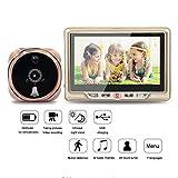 Doorbells JFW-Smart Home Digital Wireless Door Video-Eye Camera with Motion Detect Video Recording Door Peephole Viewer Monitor