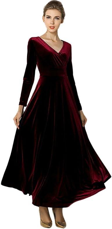 Vestiti Eleganti World Of Warcraft.Zolimx Vintage Vestito Da Sera Donna Lunghe Donna Velluto Abito