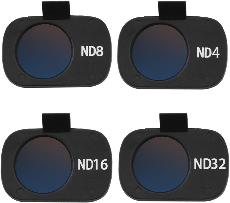 Color : ND8 HONG YI-HAT Scratchproof HD Lens Filter ND4 ND8 ND16 ND32 Waterproof Neutral Density Filters for DJI Mavic Mini Drone Camera Accessories Filter Sets