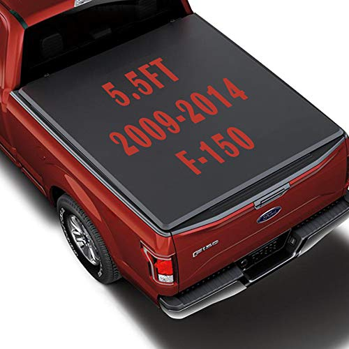 OrionMotorTech 5.5FT Truck Bed Tonneau Cover Fits 2009 2010 2011 2012 2013 2014 Ford F-150 (Except Raptor) Styleside 5.5' Bed