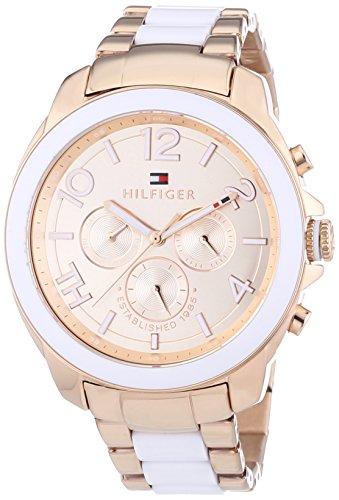 Tommy Hilfiger 1781393 - Reloj de cuarzo para mujer, correa de diversos materiales: Amazon.es: Relojes