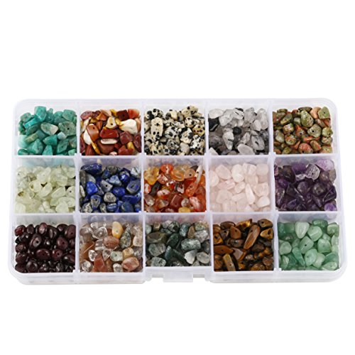 15 Assorted Chips Stone Crushed Chunked Crystal Pieces Irregular Shaped Loose Beads in bulk Smokey Quartz Bead Necklace