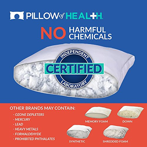 PILLOW of HEALTH | Luxury, Customizable, Therapeutic Pillow For Better Sleep | Patented Adjustable Design | Antimicrobial, Hypoallergenic, Dust Mite Resistant | Made in America - King 2 Pack by The Pillow of Health (Image #3)