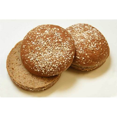 Rotellas Dark Wheat Oat Topped Hamburger Bun - 8 count per pack -- 12 packs per (Whole Wheat Buns)