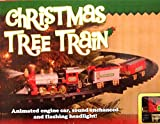 Christmas train set mounts in tree with light sounds (1)