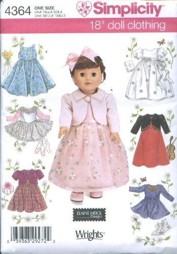 Doll Clothing Simplicity (Simplicity 4364 18
