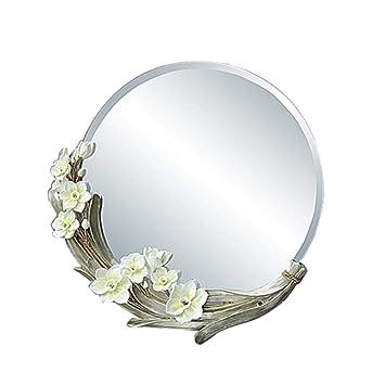Amazon.com: Espejo de baño europeo espejo de pared redondo ...