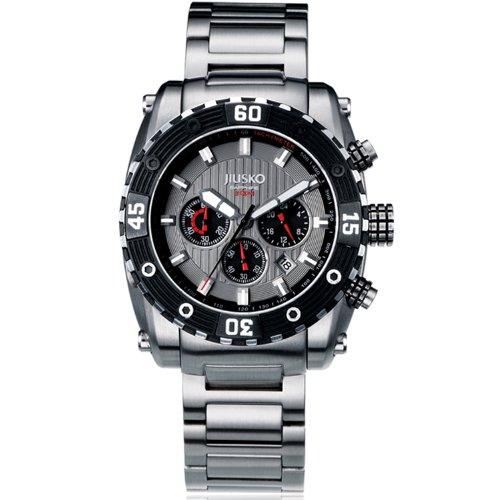 Jiusko Men's 52LSB03 Deep Sea Series Analog Display Quartz Silver Watch by JIUSKO