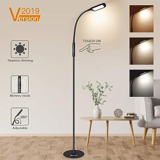Moderna de pie lámpara e27 vidrio dormitorio Weiss salón
