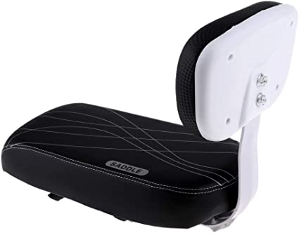 Bicycle Bike Seat Soft Sponge Cushion Rack Saddle Pad with Back Support Rest
