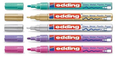 edding 751 Glanzlack-Marker Sparpack 14 Farben und viele Sortimente zur Auswahl (5, metallic sortiert)