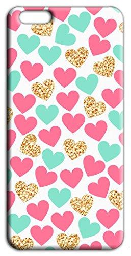 Mixroom - Cover Custodia Case In TPU Silicone Morbida Per Apple Iphone 5 5s S280 Cuori Colorati E Oro