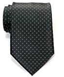 Retreez Pin Dots Woven Microfiber Men's Tie - Grey with Light Grey Pin Dots