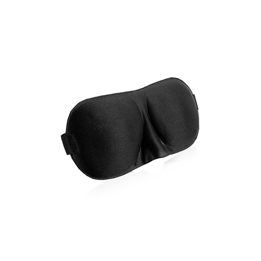 3D Adjustable Soft Sleeping Eye Mask Cover For Sleeping,Travel & Relaxation(Black)