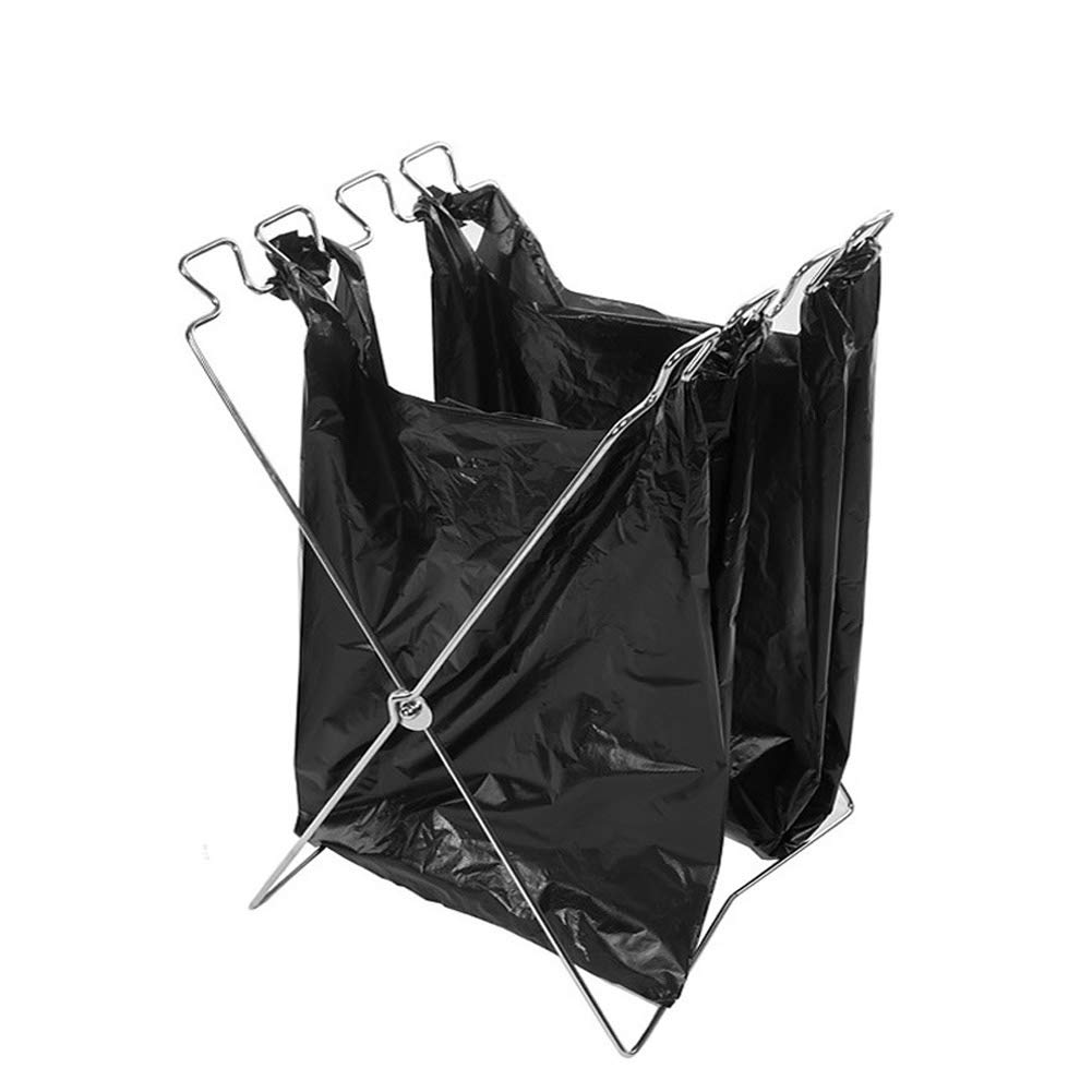 Yangshine Folding Trash Bags Holder Bag Support Stand Camping Suitable in Bedroom, Kitchen, Camping Indoor Outdoor