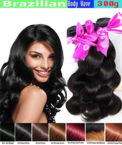 eCowboy BODY WAVE Brazilian 3 Bundle Pack GREAT DEAL Wavy Hair Weave Extensions100% Human Hair GUARANTEED or Precolored Dark Brown #2