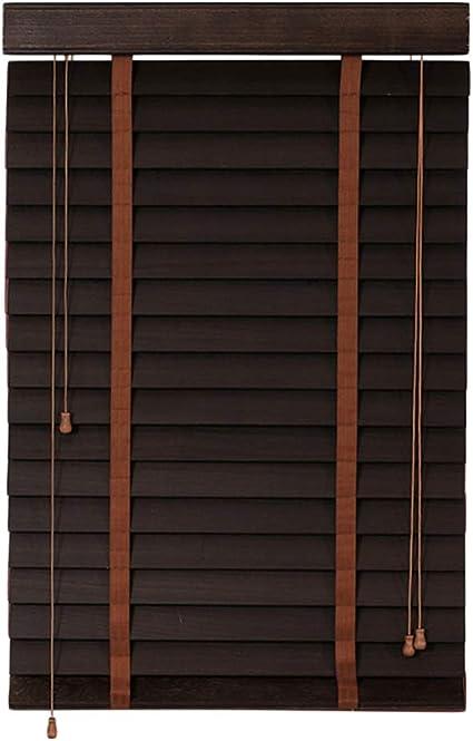 Blwx Massief Houten Jaloezieen Studieruimte Woonkamer Kantoor Luiken Houten Luiken 2 Kleur Multi Size Optioneel Aangepaste Rolgordijn Amazon Nl
