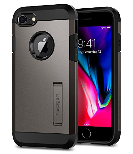 Kickstand Case - Spigen Tough Armor [2nd Generation] Designed for Apple iPhone 8 Case (2017) / Designed for iPhone 7 Case (2016) - Gunmetal
