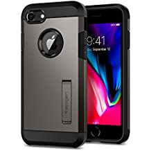 Spigen Tough Armor [2nd Generation] iPhone 8 Case / iPhone 7 Case with Kickstand and Heavy Duty Protection and Air Cushion Technology for Apple iPhone 8 (2017) / iPhone 7 (2016) - Gunmetal