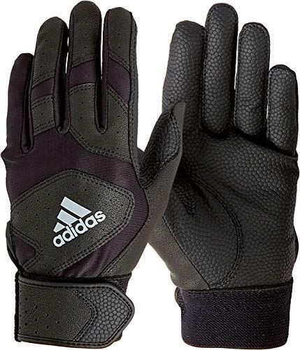 adidas Youth Triple Stripe Batting Gloves 2018 (Black, Medium)