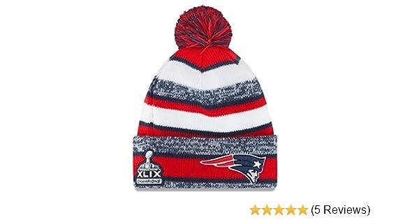 275f77124 New Era England Patriots Super Bowl Super Bowl XLIX Champions On-Field  Sport Knit Hat