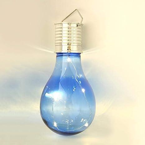 Bombilla LED alimentada mediante panel solar de melysEU, impermeable, para uso al aire libre
