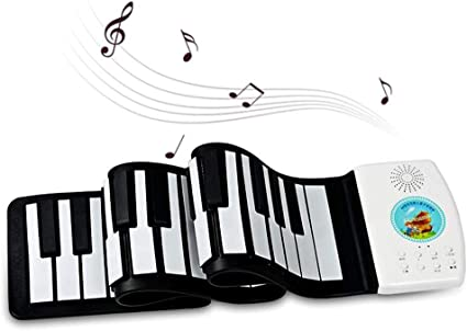 Teclado De Piano Digital Enrollable,49 Teclas Portátiles ...