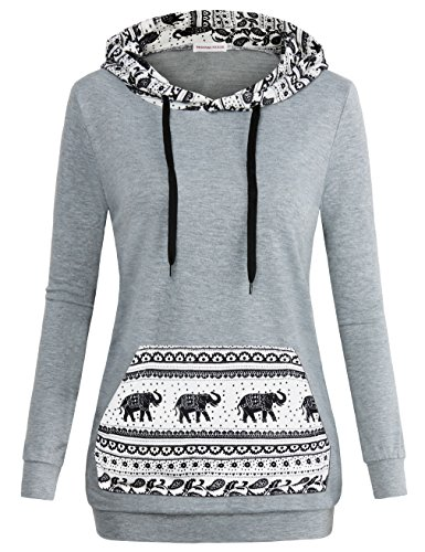 MOOSUNGEEK Sweatshirt Hoodie Pullover,Women Lightweight Casual Long Hoodies Grey from MOOSUNGEEK