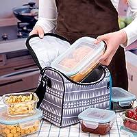 18 قطعة من حاويات تخزين الطعام الزجاجية مع الأغطية حافظات تحضير