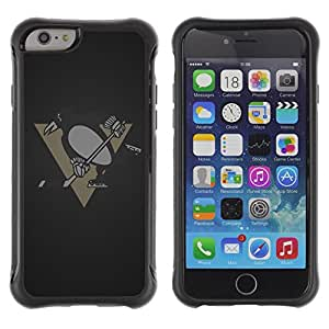 Lady Case@ Penguin Hockey Team Rugged Hybrid Armor Slim Protection Case Cover Shell For iPhone 6 Plus CASE Cover ,iphone 6 5.5 case,iPhone 6 Plus cover ,Cases for iPhone 6 Plus 5.5
