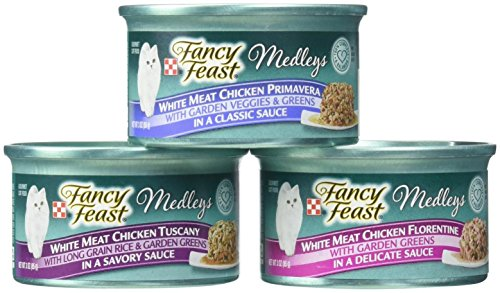 Purina Fancy Feast White Meat Chicken Recipe Variety Collection Cat Food - (12) 3 oz. Cans