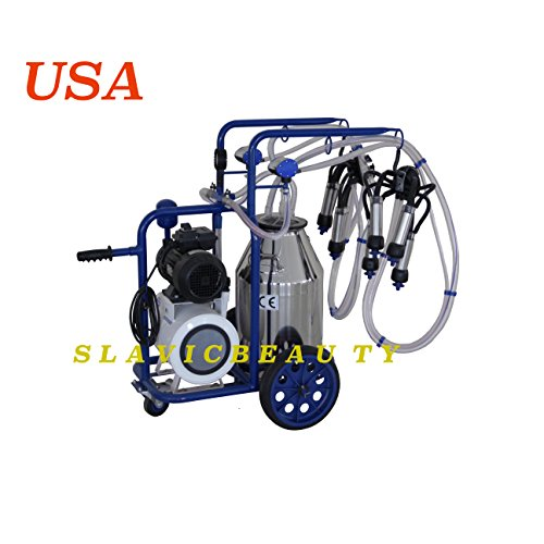 Milking Systems - SlavicBeauty Stainless Steel Milking Machine 10.5 Gal Milking System for Cows 120V 2X Milking +Free Extras