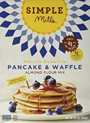 Simple Mills Almond Flour Pancake Mix & Waffle Mix, Gluten Free, Made with whole foods, (Packaging May V