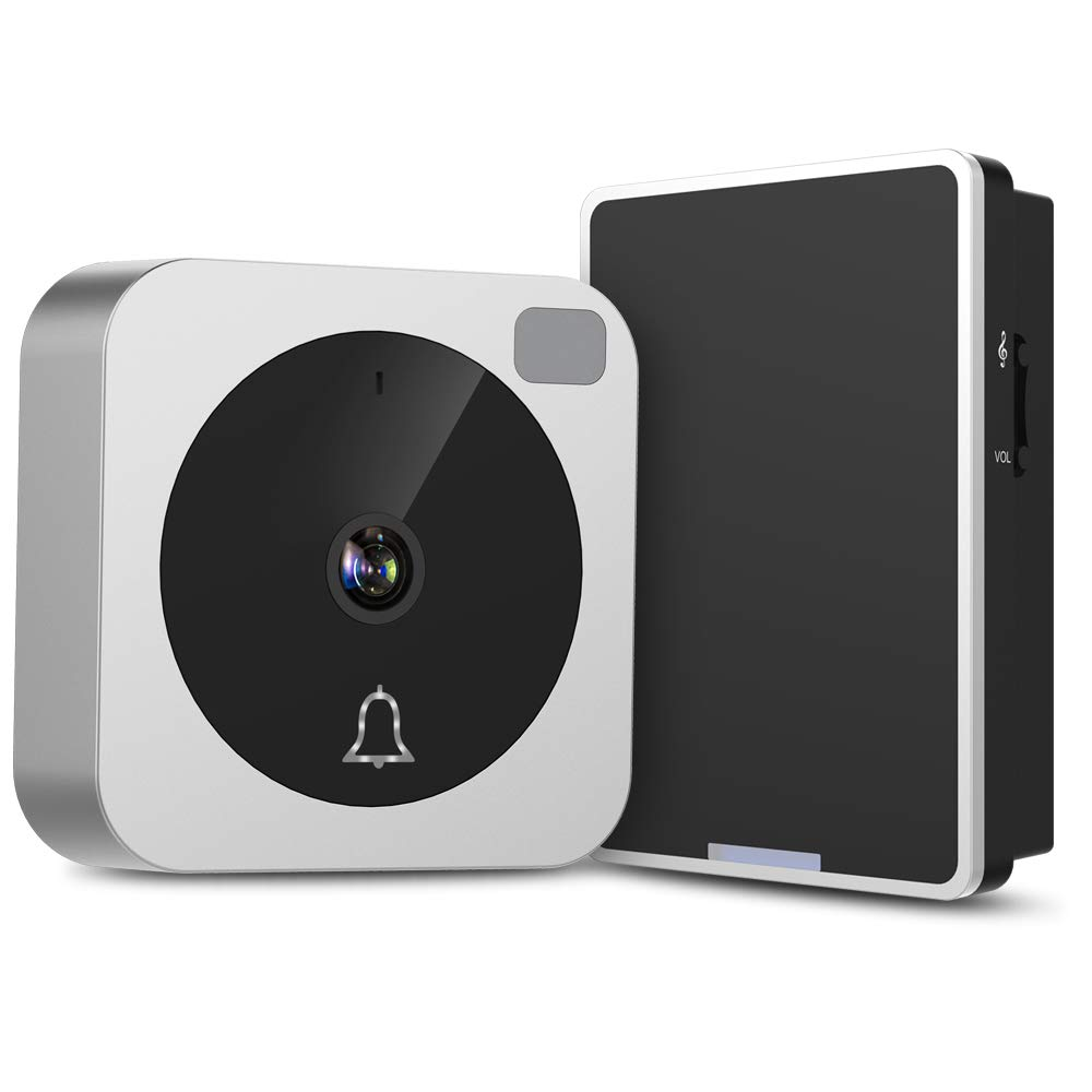 Video Doorbell, NETVUE Wireless Doorbell Camera with Two-Way Talk, IR Motion Detection, Night Vision, Compatible with Alexa Echo Show, Wifi Camera Doorbell with Cloud Storage [Wall Plug Included] (A) by NETVUE (Image #1)