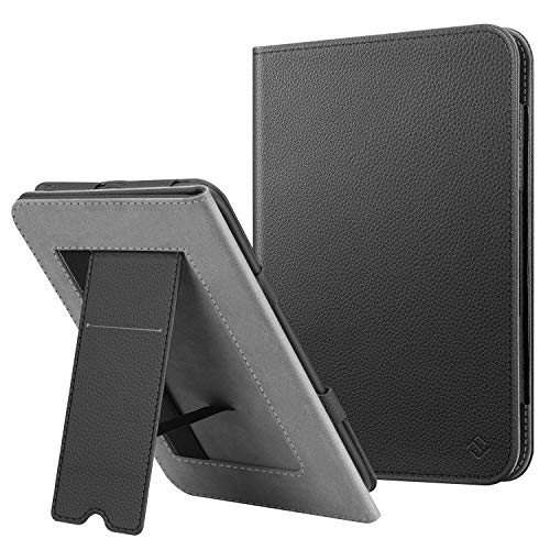 Fintie Stand Case for All-New Nook Glowlight Plus 7.8 Inch 2019 Release, Folio Premium PU Leather Protective Cover with Card Slot and Hand Strap (Not Fit Previous Gen 6 Inch 2015), Black