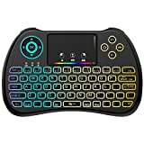(Upgraded Version) Aerb 2.4GHz Colorful Backlit Mini Wireless Keyboard with Mouse Touchpad Rechargeable Combos for PC, Pad, Google Android TV Box and More Review