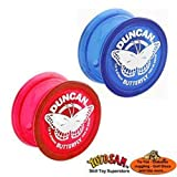 Duncan Butterfly Yo-Yo - Two pack - Red and Blue