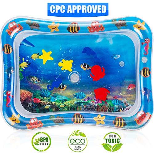 (Tummy Time Water Play Mat, 7 Upgrade [2019 New] Inflatable Infant Baby Toys & Toddlers Fun Activity Play Center for Boy & Girl Growth Brain Development 26