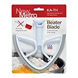 New Metro Design Beater Blade for 5-Quart KitchenAid Tilt-Head Mixers, White Grey Blades image