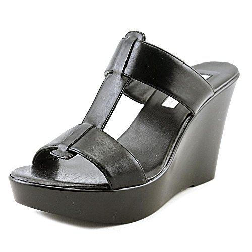 INC International Concepts Womens Paciee Open Toe Casual, Black, Size 8.0 (Size Sandals Womens Wedge Black 8)