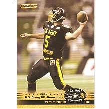 TIM TEBOW ROOKIE CARD - 2010 Razor Army All-American Bowl Glossy Football Cards #124 - Florida Gators - Rookie Card - 2006 Alumni - NFL Trading Card